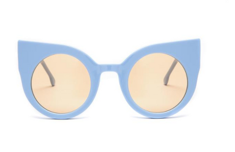 Oversized Cat Eye Light Blue Supernormal Sunglasses