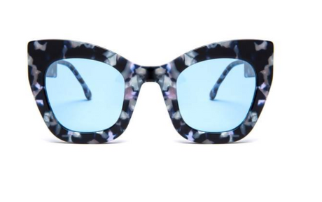 Square Oversized Blue Marble Supernormal Sunglasses