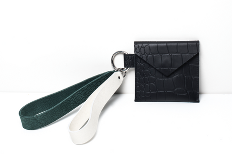 Micro Bag in Croc-effect Leather
