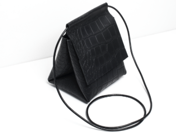 Pyramid Bag in Croc-effect Leather