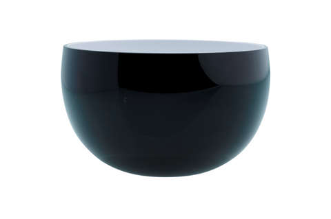 Deco Big Bowl Black Outside And White Inside