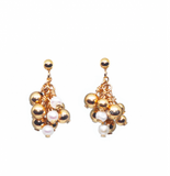 Gold Beaded Earrings MINI Grappe