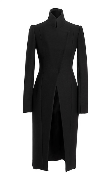 Black Wool Open Coat