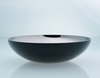 Deco Flat Bowl Black Outside And White Splashed Titanium Inside
