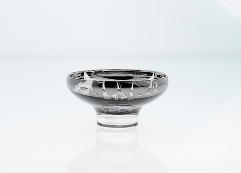Deco dessert splashed mirror bowl