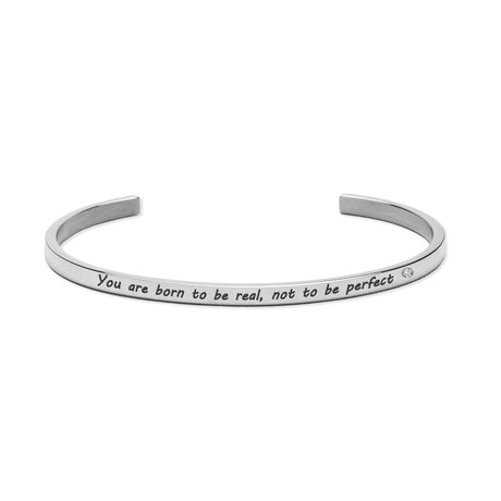 YOU ARE BORN TO BE REAL, NOT PERFECT Bracelet Silver