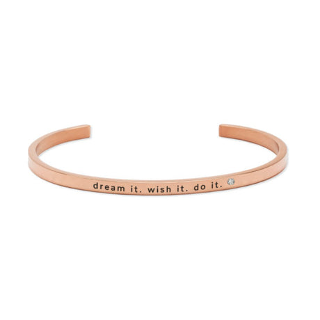 DREAM IT. WITH IT. DO IT. Bracelet Rose