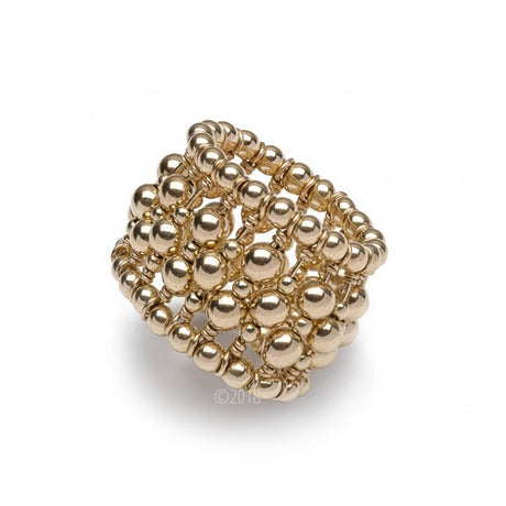 GOLD FILLED BEADED RING