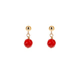Trinity Earrings Coral Goldfilled