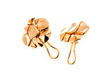 Dragon Skin Earrings Gold Plated