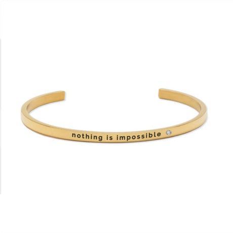 NOTHING IS IMPOSSIBLE Bracelet Gold