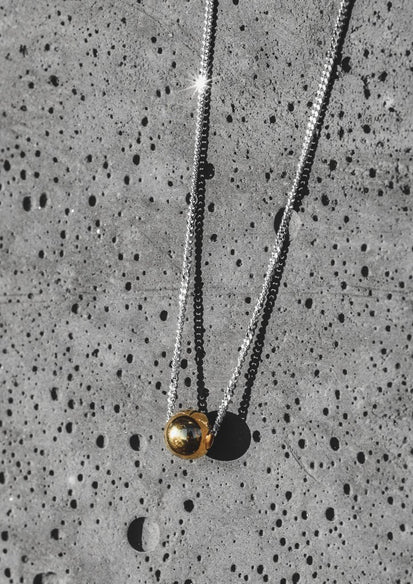 Bubble Silver and Gold Plated Necklace