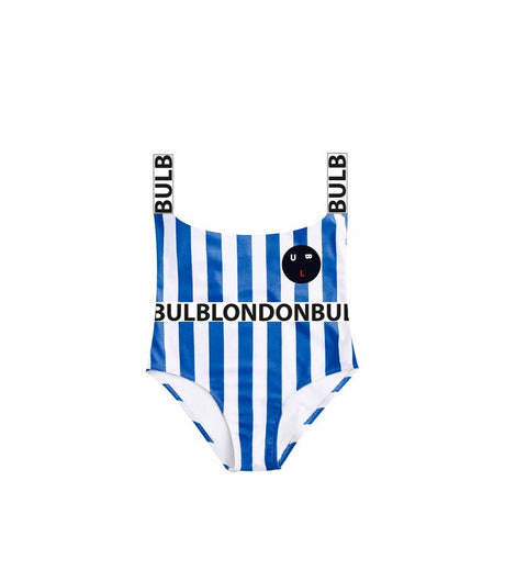 Bulb Face Stripe Swimsuit