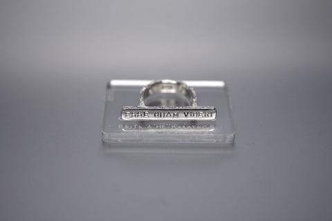 Silver plain ring with inscription in Latin