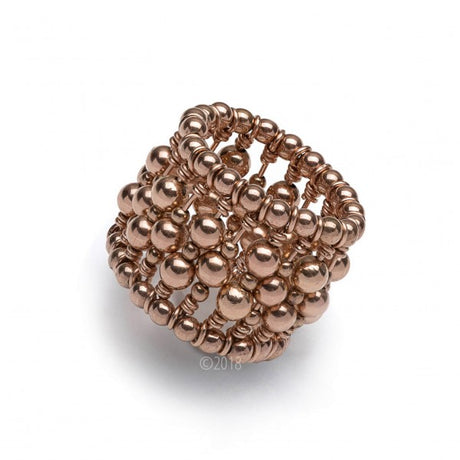 ROSE GOLD FILLED BEADED RING