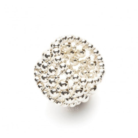 SERLING SILVER BEADED RING