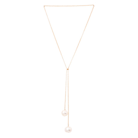 Tied To Coco Gold And White Pearl Necklace