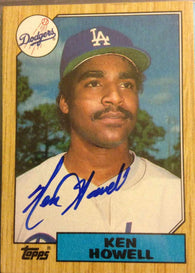 Ken Howell Signed 1987 Topps Baseball Card - Los Angeles Dodgers - PastPros