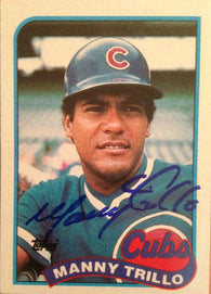 Manny Trillo Signed 1989 Topps Baseball Card - Chicago Cubs