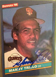 Manny Trillo Signed 1986 Donruss Baseball Card - San Francisco Giants