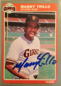 Manny Trillo Signed 1985 Fleer Baseball Card - San Francisco Giants