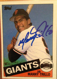 Manny Trillo Signed 1985 Topps Baseball Card - San Francisco Giants