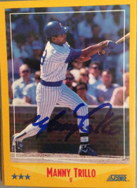 Manny Trillo Signed 1988 Score Baseball Card - Chicago Cubs