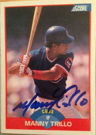 Manny Trillo Signed 1989 Score Baseball Card - Chicago Cubs