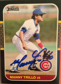 Manny Trillo Signed 1987 Donruss Baseball Card - Chicago Cubs