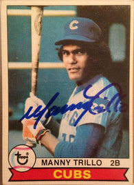 Manny Trillo Signed 1979 Topps Baseball Card - Chicago Cubs
