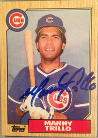 Manny Trillo Signed 1987 Topps Baseball Card - Chicago Cubs