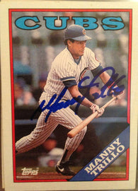 Manny Trillo Signed 1988 Topps Baseball Card - Chicago Cubs