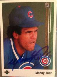 Manny Trillo Signed 1989 Upper Deck Baseball Card - Chicago Cubs