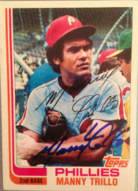 Manny Trillo Signed 1982 Topps Baseball Card - Philadelphia Phillies