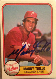 Manny Trillo Signed 1981 Fleer Baseball Card - Philadelphia Phillies