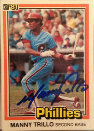 Manny Trillo Signed 1981 Donruss Baseball Card - Philadelphia Phillies