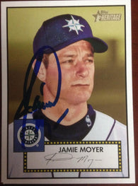 Jamie Moyer Signed 2001 Topps Heritage Baseball Card - Seattle Mariners