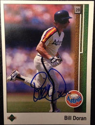Bill Doran Signed 1989 Upper Deck Baseball Card - Houston Astros