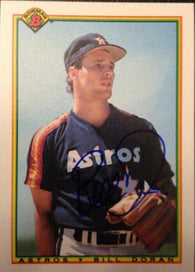 Bill Doran Signed 1990 Bowman Baseball Card - Houston Astros