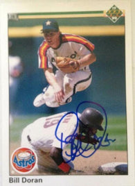 Bill Doran Signed 1990 Upper Deck Baseball Card - Houston Astros