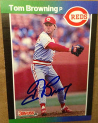 Tom Browning Signed 1989 Donruss Baseball Card - Cincinnati Reds