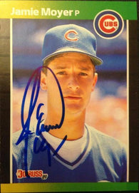 Jamie Moyer Signed 1989 Donruss Baseball Card - Chicago Cubs