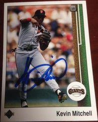 Kevin Mitchell Signed 1989 Upper Deck Baseball Card - San Francisco Giants