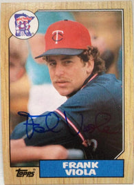 Frank Viola Signed 1987 Topps Baseball Card - Minnesota Twins
