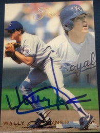Wally Joyner Signed 1993 Flair Baseball Card - Kansas City Royals