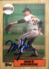 Mike Krukow Signed 1987 Topps Baseball Card - San Francisco Giants - PastPros