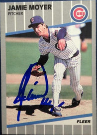 Jamie Moyer Signed 1989 Fleer Baseball Card - Chicago Cubs