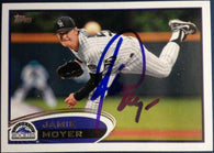 Jamie Moyer Signed 2012 Topps Baseball Card - Colorado Rockies