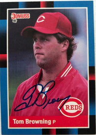 Tom Browning Signed 1988 Donruss Baseball Card - Cincinnati Reds