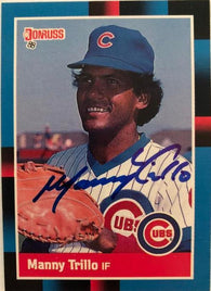 Manny Trillo Signed 1988 Donruss Baseball Card - Chicago Cubs